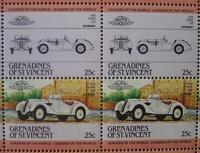 1936 BMW 328 Roadster Sports Car 50-Stamp Sheet (1984 Grenadines of St Vincent)