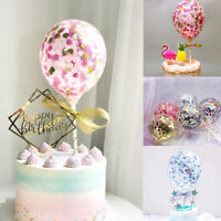 5'' Confetti Foil Latex Balloons Baby Shower Wedding Birthday Hen Party Decor