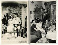 Serie: Weltgeschichte Daheim, 2 Orig.-Photos um 1960