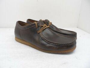 Clarks Men's Originals Lace Up Loafer Brown Size 8.5M