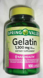 Spring Valley Gelatin 650mg 100 Capsules Exp 03/2022