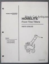 1993 Homelite Front Line Tiller Parts List Models Ft35-Ut22090 & Ft50-Ut22091