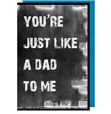 Stepdad Fathers Day Card - You're Just Like A Dad To Me (Chalkboard Effect ) BK