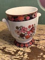 Vera Bradley Mod Floral Pink Andrea By Sadek Porcelain Handled Planter Art Vase