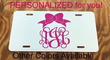 Monogram License Plate Personalized Car Tag New