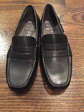 Geox Respira Women's Black Italian patent Slip On Loafer Shoes EU 35