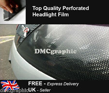 40x106cm Perforated Car Window Fly Eye Headlight Film Mesh One Way Vision Wrap