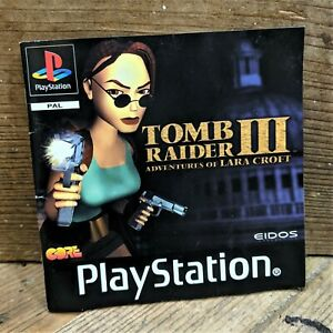 Tomb Raider III 3 ~ Retro ~ Genuine MANUAL ONLY (PS1) NO Game