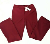 "NWT White House Black Market Sz 4 ""Bi-stretch Slim Flare"" Dress Pants  Burgundy"