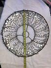 """Antique Chandelier Crystal Bottom Basket 19"""" Diameter"""
