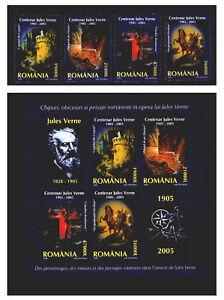 Rumänien 5919-22  Block 352 ** Jules Verne , Literatur (2005)