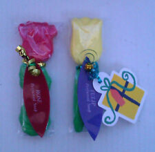 Flower Scented Soaps Rose & Tulip Gift Wrapped with Tags & Bells