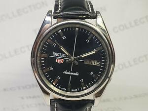 Vintage Seiko 5 Mechanical Automatic Movement Mens Wrist Watch OA127 F
