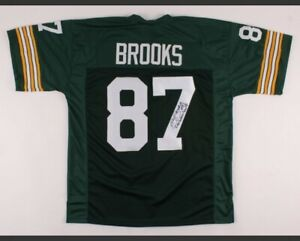 "Robert Brooks Signed Jersey Inscribed ""Lambeau Leap"" (JSA COA)Green Bay Packers"