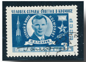 Yuri Gagarin handsigned cancelled CCCP stamp 1961 - 2182