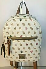 Dooney & Bourke Signature Emoji Small Ronnie Pebbled Leather Backpack White NWT