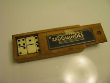 NEW NPW 28 Dominoes in Nice Wooden Box Great Gift From Nordstrom