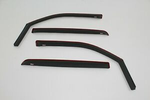 Chevy Avalanche 2007-2013  Matte Black Wind deflectors In-Channel