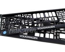 VOLKSWAGEN Golf R Euro Standart License Plates Frames with VW Logo 2pcs.