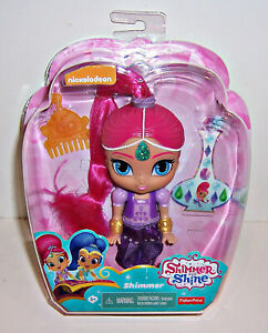 "FISHER PRICE Nickelodeon SHIMMER & SHINE ""Shimmer"" Genie DOLL 6"" Comb & Stickers"