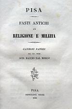 PISA STORIA LOCALE POESIA MATRIMONIO ROSSELMINI GUALANDI - FRANCESCHI GALLETTI