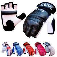 Leather Taekwondo Gloves Gel Combat Martial Art MMA Karate Mitts Boxing Gloves