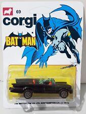 CORGI Juniors Batman BATMOBILE Diecast Model Car In Repro Custom 69 Blister Pack