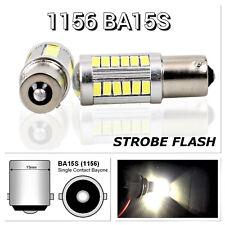 Strobe Backup Reverse 1156 BA15S 33SMD 180° LED Projector Lens White Bulb K1 K