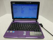 Acer Aspire One Intel Atom N270 1.60GHz 1GB RAM Purple Laptop No HDD