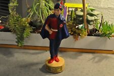 "Vtg 1957 Community Fund Red Cross Joint Appeal Oscar Award  Figurine 7.5 Wooden"""