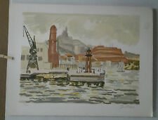 LITHOGRAPHIE ORIGINALE   MARSEILLE YVES BRAYER 196/242