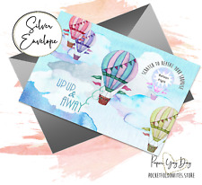 Scratch & Reveal Surprise Trip Card. Travel Card. Hot Air Balloon. Holiday Card.