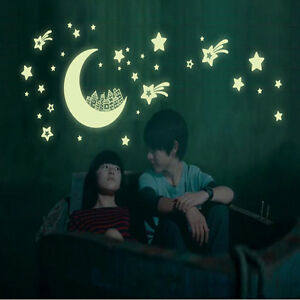 Wall Stickers Glow in the Dark Bedroom Decor Decals Kids Baby Gift DIY Luminous