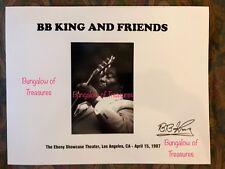 BB KING signed 11 x 8.5 b&w photo BEALE STREET