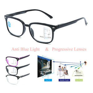 Reading Glasses +1.0 +1.5 to +3.0 Strength Progressive & Anti Blue Light Glasses