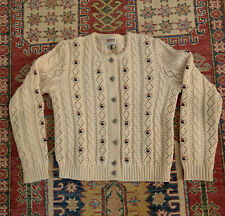 New listing Vtg Wool Huber Sportlicke Strickmoden German Sweater - Roses - Cable - Small/Med
