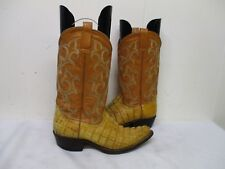 Alligator Tail Leather Cowboy Western Boots Mens Size 6.5