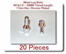 """20 Pcs wheel Lug Bolt M14x1.5 Thread L: 0.93"""" 60 Degree 17mm Hex Fits: Saab & VW"""