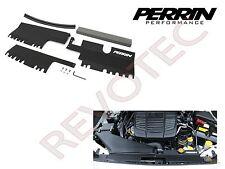 Black Perrin Radiator Shroud Cooling Plate Kit For 15-18 WRX / STi