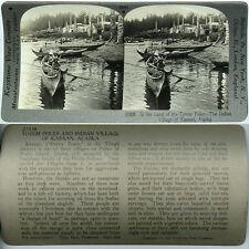 Keystone Stereoview TOTEM POLES & INDIAN VILLAGE, ALASKA From 600/1200 Card Set