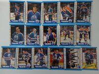 1989-90 O-Pee-Chee OPC Edmonton Oilers Team Set of 16 Hockey Cards