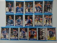 1989-90 O-Pee-Chee OPC Edmonton Oilers Team Set of 16 Hockey Cards