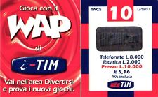 1374 SCHEDA RICARICA USATA TIM WAP WAP-M 10 LUG 2003 OCR 17 CAB 27