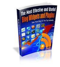 Effective Blog Widgets &  Plugins Ebook On CD $5.95 Resale Rights Free Shipping