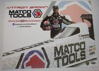 2016 Antron Brown Matco Tools Top Fuel NHRA postcard