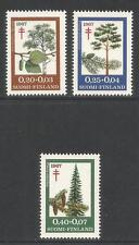 Finland 1967 Local Trees semipostal--Attractive Topical (B179-81) MNH