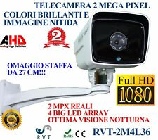 TELECAMERA 4 LED ARRAY AHD 2 MPX SONY FULL HD STAFFA OMAGGIO IR 50 METRI