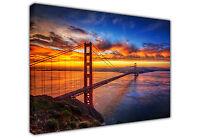 GOLDEN GATE BRIDGE SAN FRANCISCO CANVAS PICTURE PRINTS WALL ART / PHOTO / PRINT