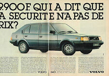 PUBLICITE ADVERTISING  1985   VOLVO 340L   ( 2 pages)