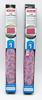 2 Car Baby Girl Window Shades Pink Cheetah Print 16x12 inch UV Block Protection